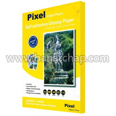 فروشگاه و خدمات اینترنتی بهارچاپ اصفهان-کاغذ پشت چسب دار براق گلاسه پیکسل A4-Pixel inkjet paper self-adhesive glossy paper