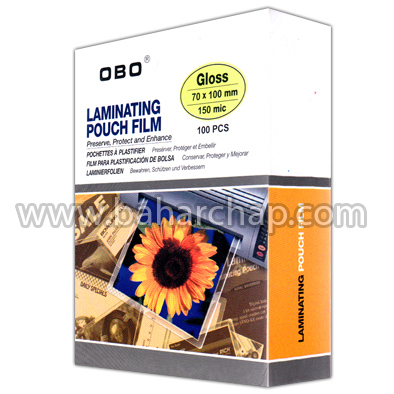 فروشگاه و خدمات اینترنتی بهارچاپ اصفهان-طلق پرس 70*100 اوبو 150 میکرون-OBO Laminating Pouch Film 150 mic100*70mm