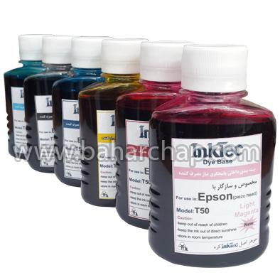 فروشگاه و خدمات اینترنتی بهارچاپ اصفهان-ست جوهر اپسون 6 رنگ-Dye Based Printer Ink