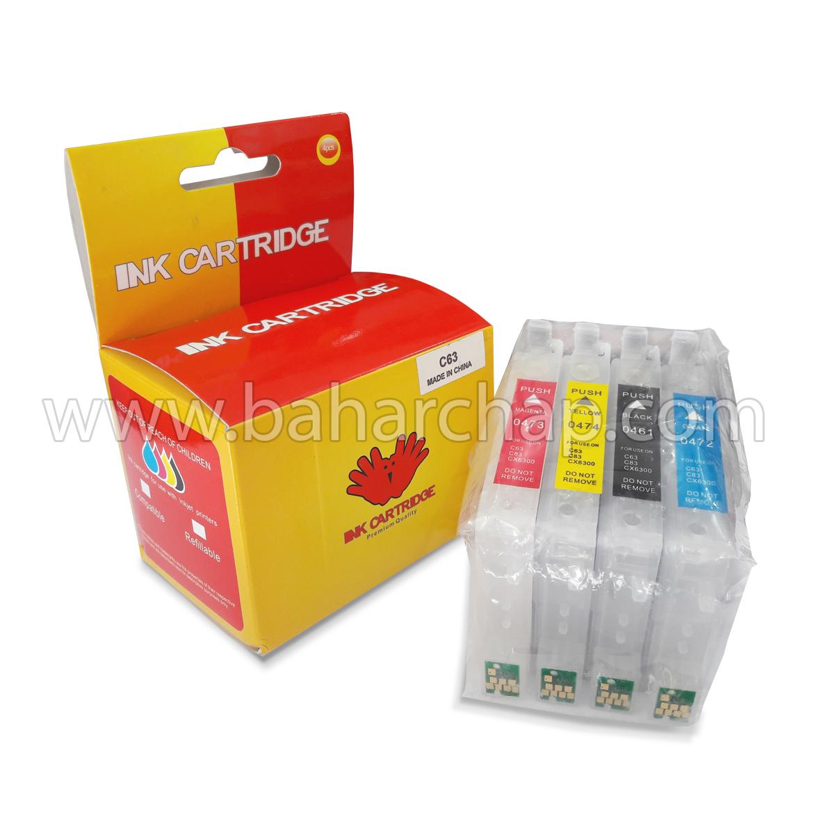 فروشگاه و خدمات اینترنتی بهارچاپ اصفهان-کارتریج های قابل شارژ اپسون C63-Rechargeable cartridges for Epson