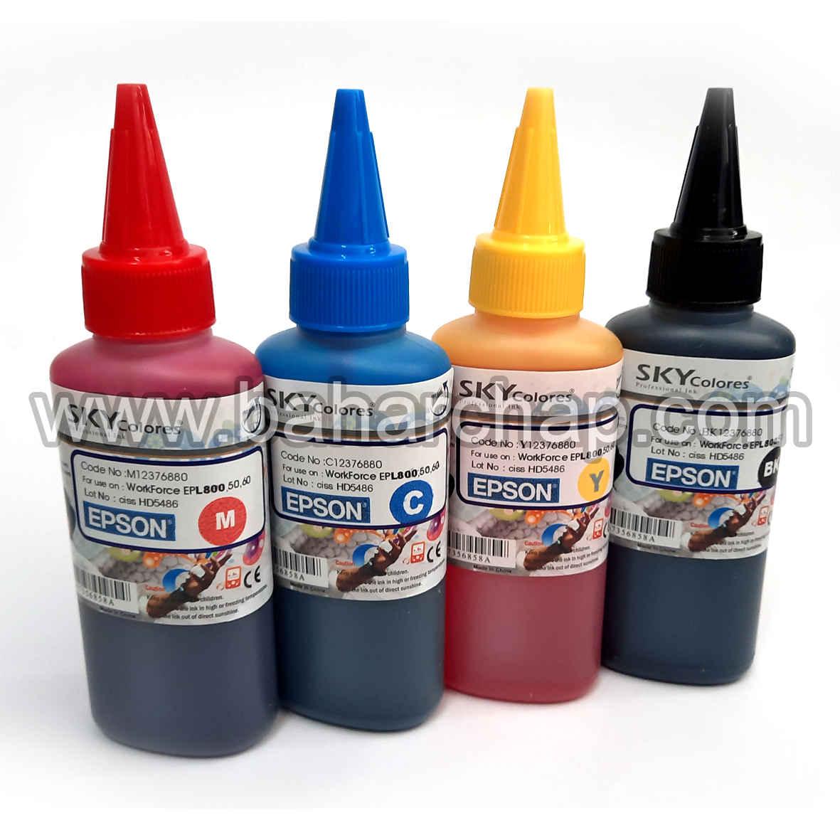 فروشگاه و خدمات اینترنتی بهارچاپ اصفهان-جوهر اسکای 100cc (ست چهار رنگ اپسون)-SKY INK FOR EPSON 4 COLOR