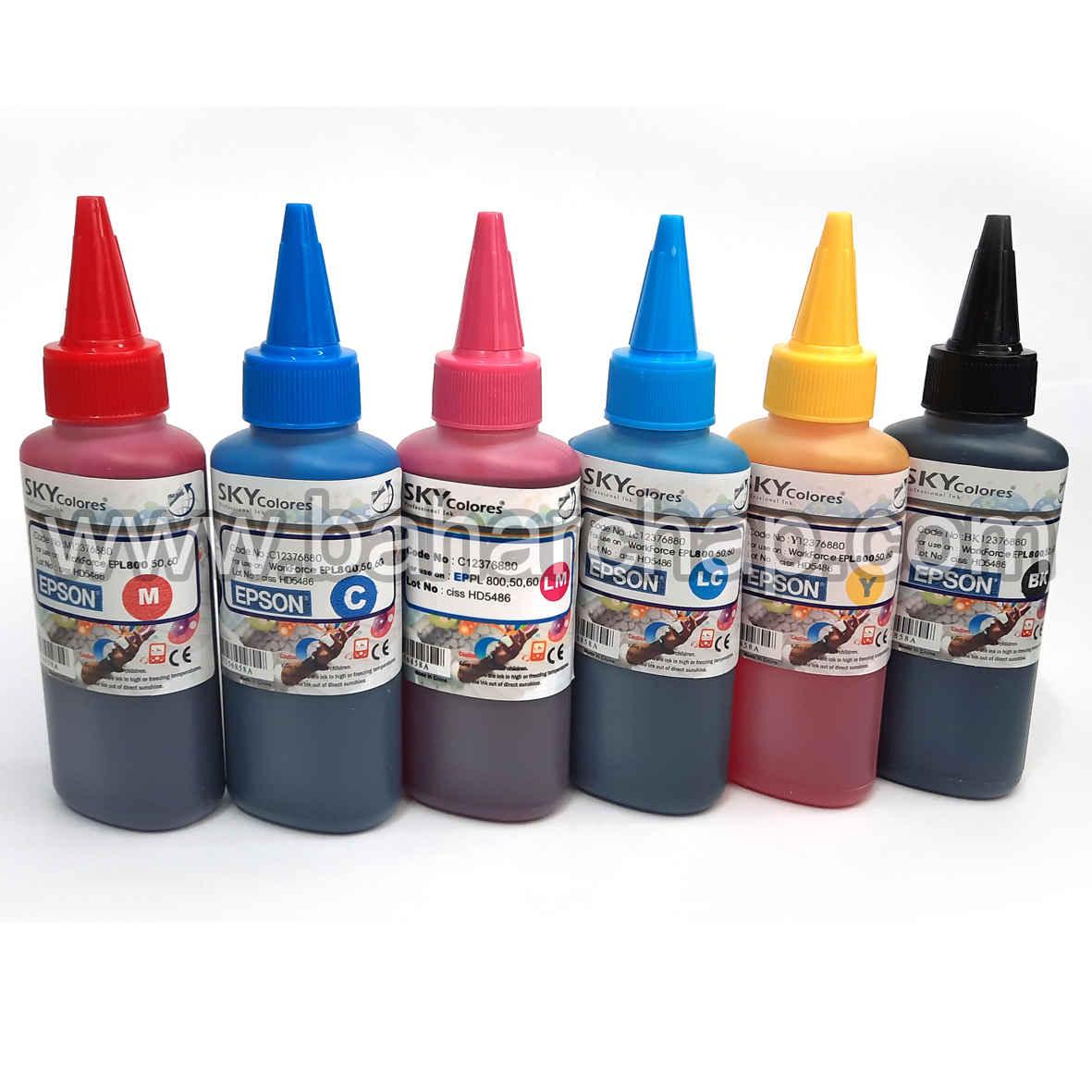فروشگاه و خدمات اینترنتی بهارچاپ اصفهان-جوهر اسکای 100cc (ست شش رنگ اپسون)-SKY INK FOR EPSON 6 COLOR