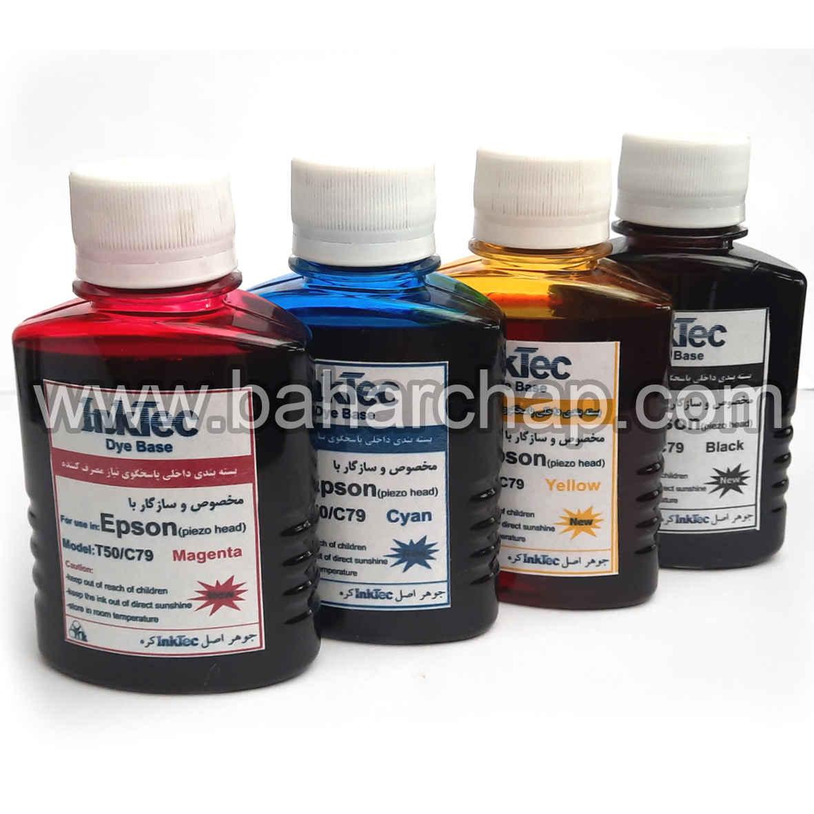 فروشگاه و خدمات اینترنتی بهارچاپ اصفهان-جوهر 100ccچهار رنگ اپسون INKTEC داخلی-INKTEC epson 4color 100cc