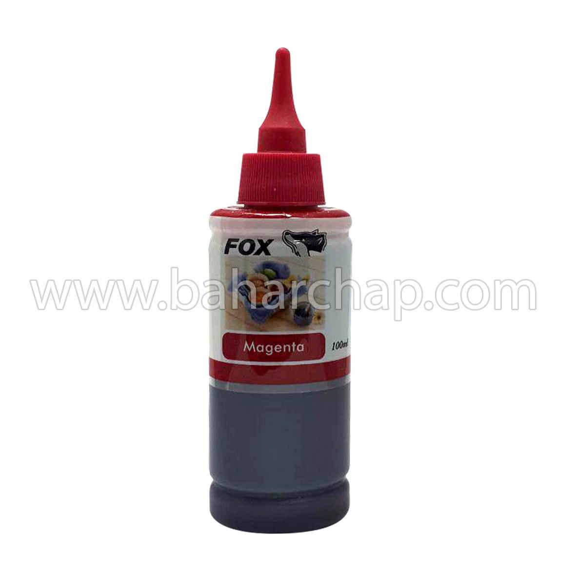 فروشگاه و خدمات اینترنتی بهارچاپ اصفهان-جوهر 100cc قرمز اپسون فوکس-fox epson magenta  ink 100cc