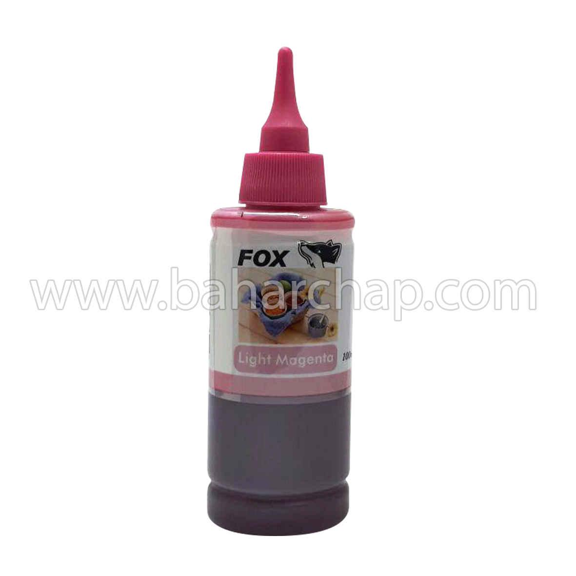 فروشگاه و خدمات اینترنتی بهارچاپ اصفهان-جوهر 100cc قرمز کم رنگ اپسون فوکس-fox epson magenta  ink 100cc