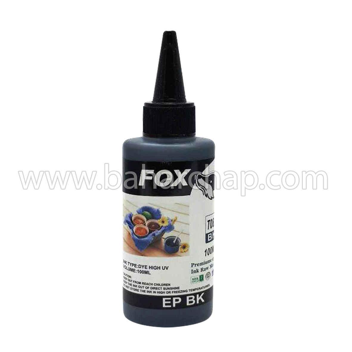 فروشگاه و خدمات اینترنتی بهارچاپ اصفهان-جوهر 100cc مشکی اپسون فوکس-fox epson black ink 100cc