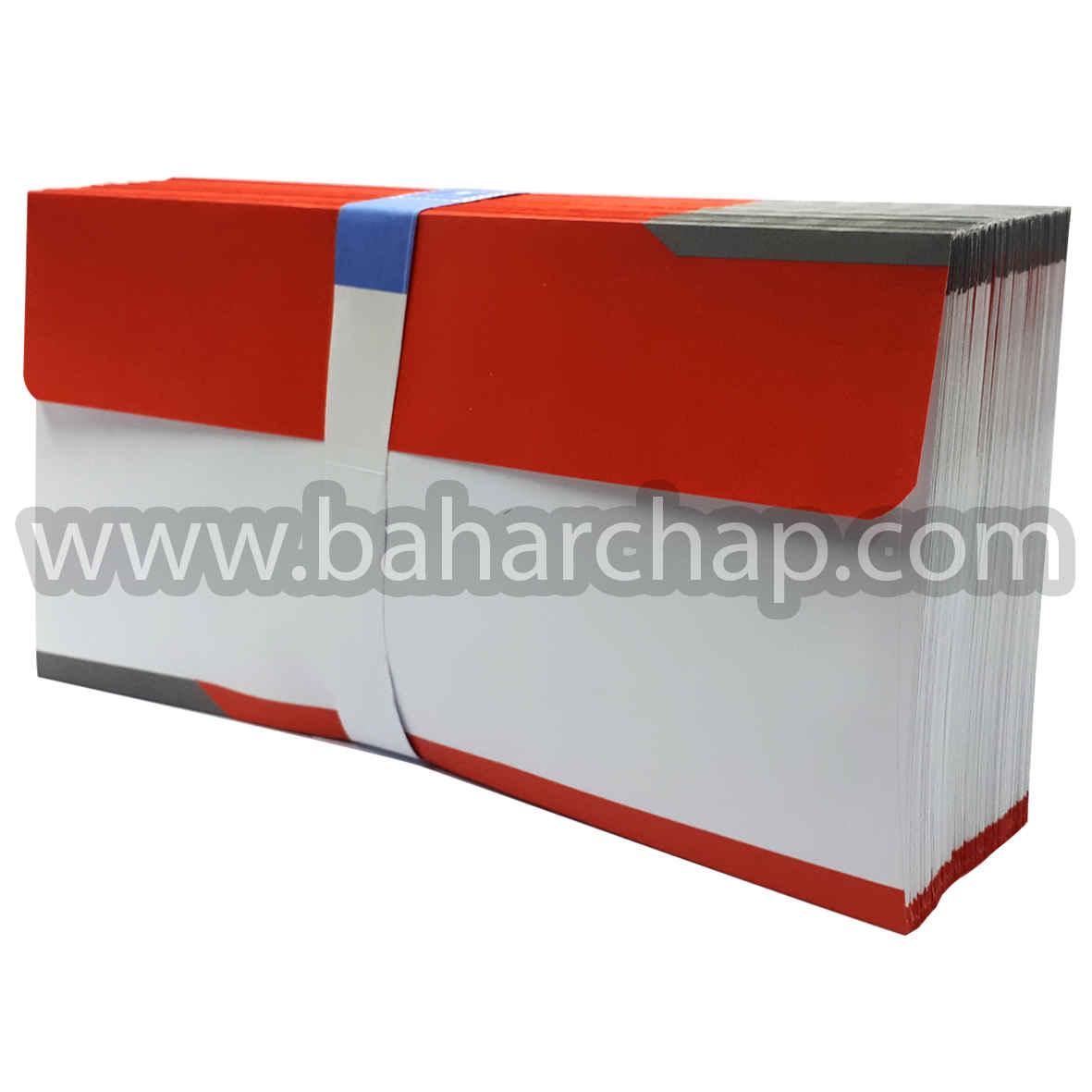 فروشگاه و خدمات اینترنتی بهارچاپ اصفهان-پاکت ملخی دورنگ طوسی قرمز -