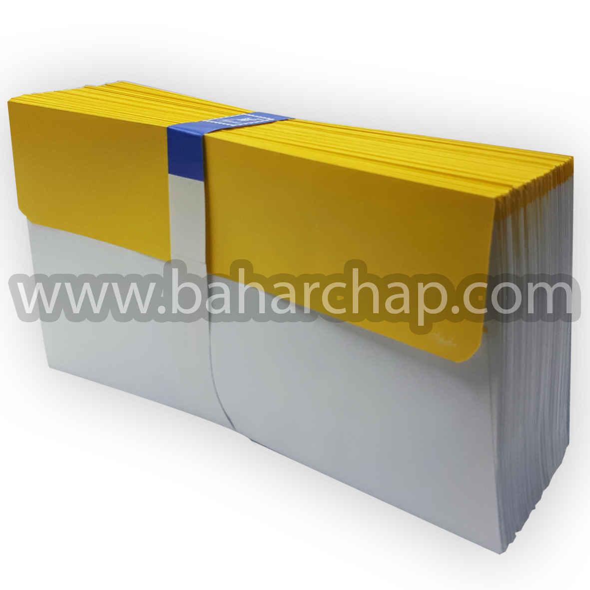 فروشگاه و خدمات اینترنتی بهارچاپ اصفهان-پاکت ملخی لب رنگ زرد-