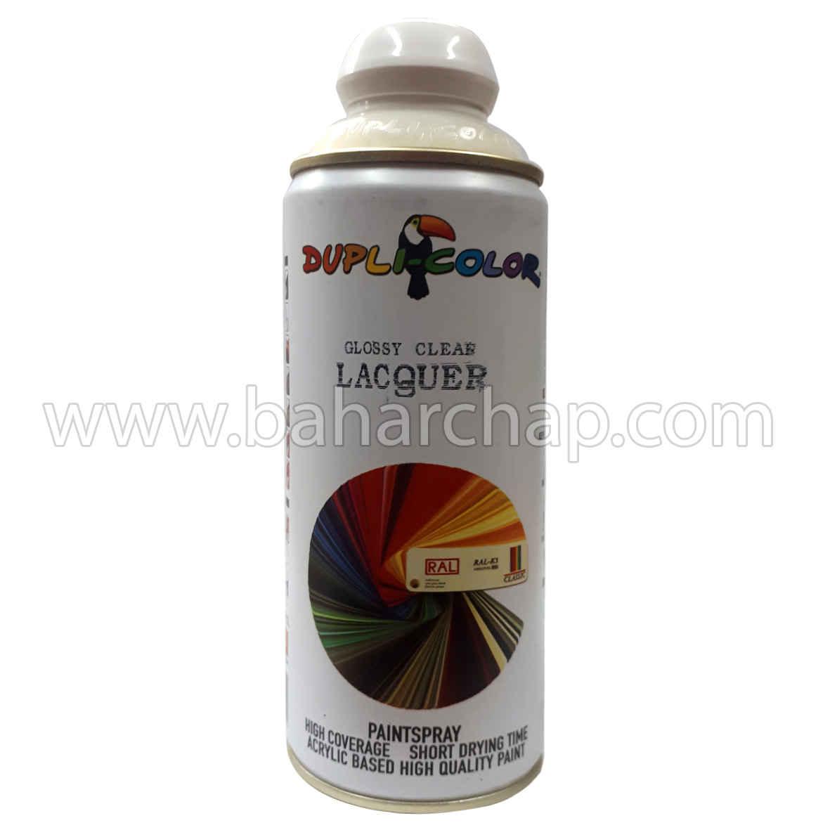 فروشگاه و خدمات اینترنتی بهارچاپ اصفهان-اسپری محافظت کننده رنگ (براق)-Glassy Clear lacguer Dupli-color