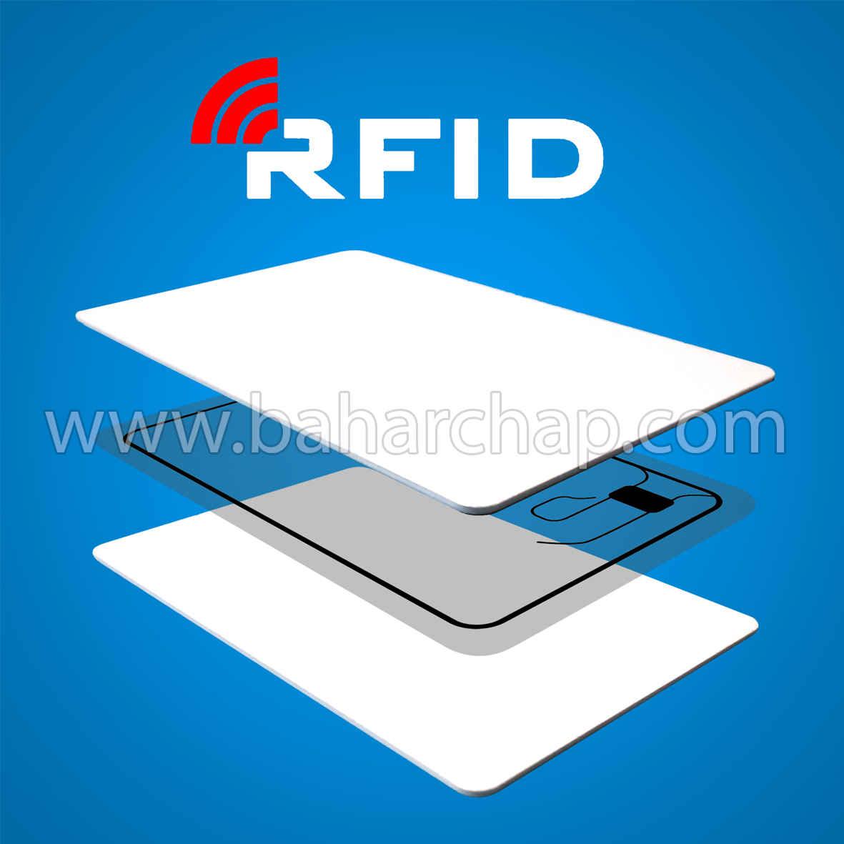 فروشگاه و خدمات اینترنتی بهارچاپ اصفهان-کارت خام pvc (RFID) جوهر افشان-PVC RFID Card 13.56MHZ 1K with Chip
