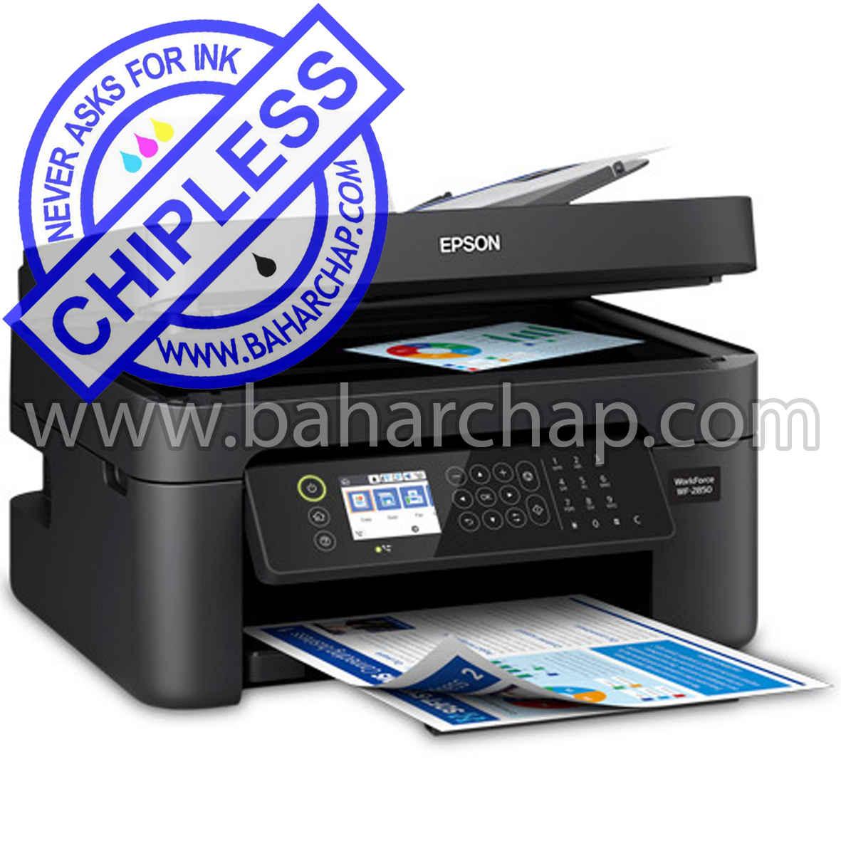 فروشگاه و خدمات اینترنتی بهارچاپ اصفهان-بدون چیپ کردن اپسون WF2850-DWF-epson WF2850-DWFchipless firmware