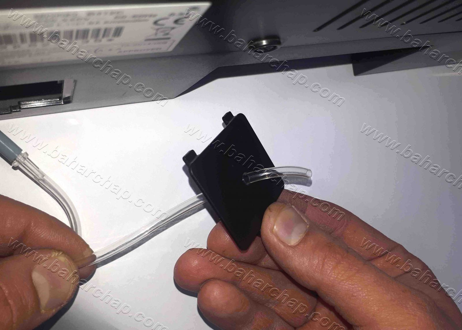 نحوه گذاشتن شیلنگ سرم بر روی پرینتر اپسون t50 p50 l800 l805