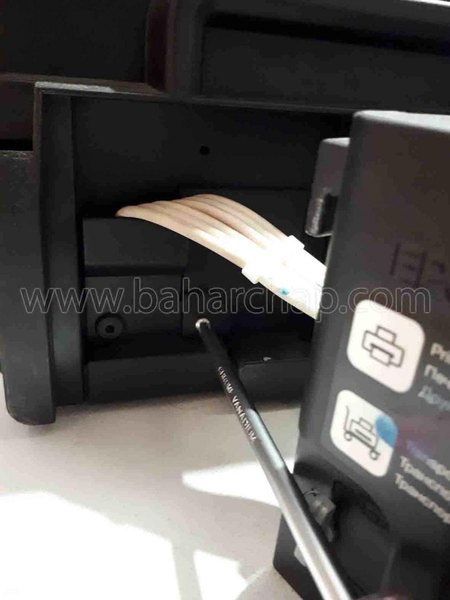 باز کردن دریچه ضایعات جوهر اپسون L1800